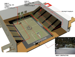 Malcom X Shabazz Interior Gymnasium and Lockers
